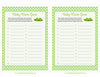 Baby Name Game - PRINTABLE DOWNLOAD - Boy Twins - Peas in a Pod Baby Shower Game - B29001