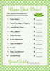 Name That Price Game - PRINTABLE DOWNLOAD - Boy Twins - Peas in a Pod Baby Shower Game - B29001