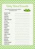 Baby Word Scramble - PRINTABLE DOWNLOAD - Boy Twins - Peas in a Pod Baby Shower Game - B29001