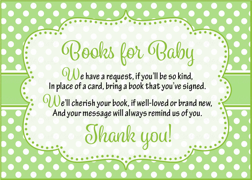 Books for Baby Invitation Inserts for Baby Shower - Peas in a Pod ...