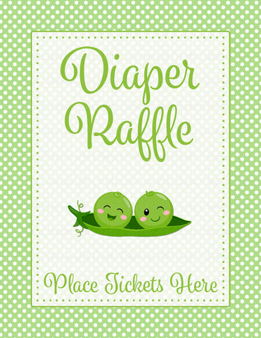 Diaper raffle tickets for baby shower peas in a pod baby shower diaper raffle tickets printable download boy twins peas in a pod baby shower filmwisefo
