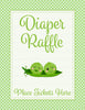 Diaper Raffle Tickets - PRINTABLE DOWNLOAD - Boy Twins - Peas in a Pod Baby Shower Invitation Inserts - B29001