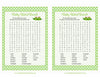 Baby Word Search - PRINTABLE DOWNLOAD - Girl Twins - Peas in a Pod Baby Shower Game - B29002