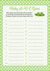 Baby ABC Game - PRINTABLE DOWNLOAD - Girl Twins - Peas in a Pod Baby Shower Game - B29002