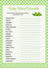 Baby Word Scramble - PRINTABLE DOWNLOAD - Girl Twins - Peas in a Pod Baby Shower Game - B29002