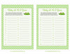 Baby ABC Game - PRINTABLE DOWNLOAD - Boy Girl Twins - Peas in a Pod Baby Shower Game - B29003