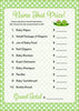 Name That Price Game - PRINTABLE DOWNLOAD - Boy Girl Twins - Peas in a Pod Baby Shower Game - B29003
