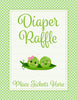 Diaper Raffle Tickets - PRINTABLE DOWNLOAD - Boy Girl Twins - Peas in a Pod Baby Shower Invitation Inserts - B29003