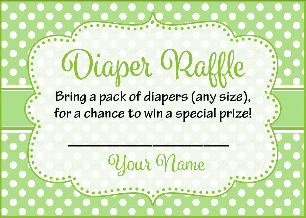 Diaper Raffle Tickets For Baby Shower - Peas In A Pod Baby -5717
