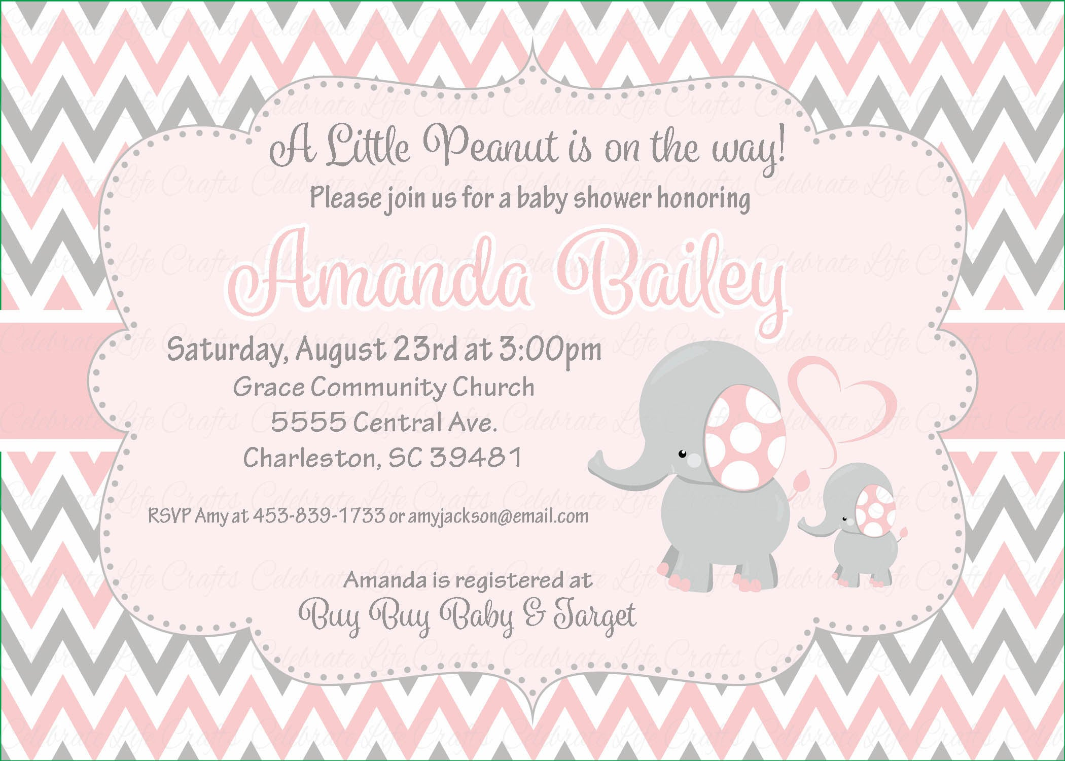 Elephant Baby Shower Personalized Mini Candy Bar Wrappers – Celebrate Life  Crafts