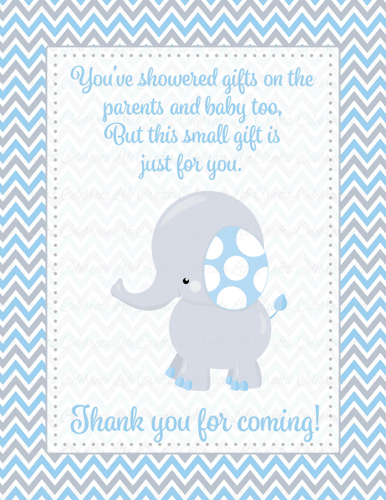 Elephant Baby Shower Thank You Sign