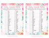 Baby Animals Match Game - Printable Download - Pink Floral Spring Baby Shower Game - B33001