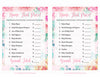 Name That Price Game - Printable Download - Pink Floral Spring Baby Shower Game - B33001