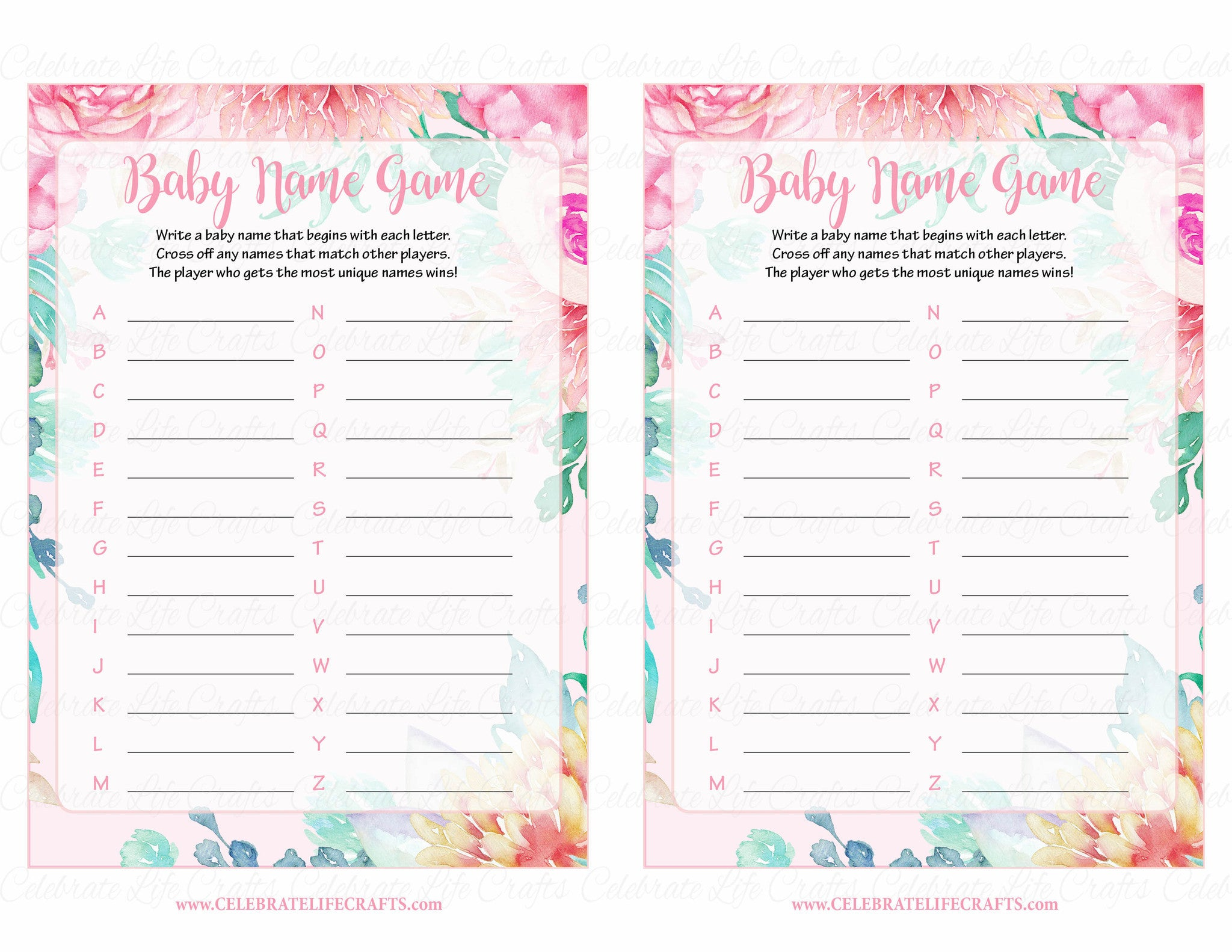 Spring Baby Names: Spring Baby Shower Theme For