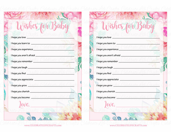 wishes for baby shower activity