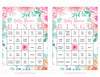 Floral Baby Bingo Cards - Printable Download - Prefilled - Spring Baby Shower Game for Girl - Pink Floral - B33001
