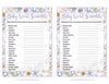 Baby Word Scramble - Printable Download - Lavender Floral Garden Baby Shower Game - B33002