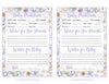 Prediction & Advice Cards - Printable Download - Lavender Floral Garden Baby Shower Activity - B33002