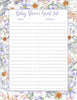 Baby Shower Guest List Set - Printable Download - Lavender Floral Garden Baby Shower Decorations - B33002
