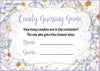 Candy Guessing Game - Printable Download - Lavender Floral Garden Baby Shower Game - B33002