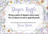 Diaper Raffle Tickets - Printable Download - Lavender Floral Garden Baby Shower Invitation Inserts - B33002