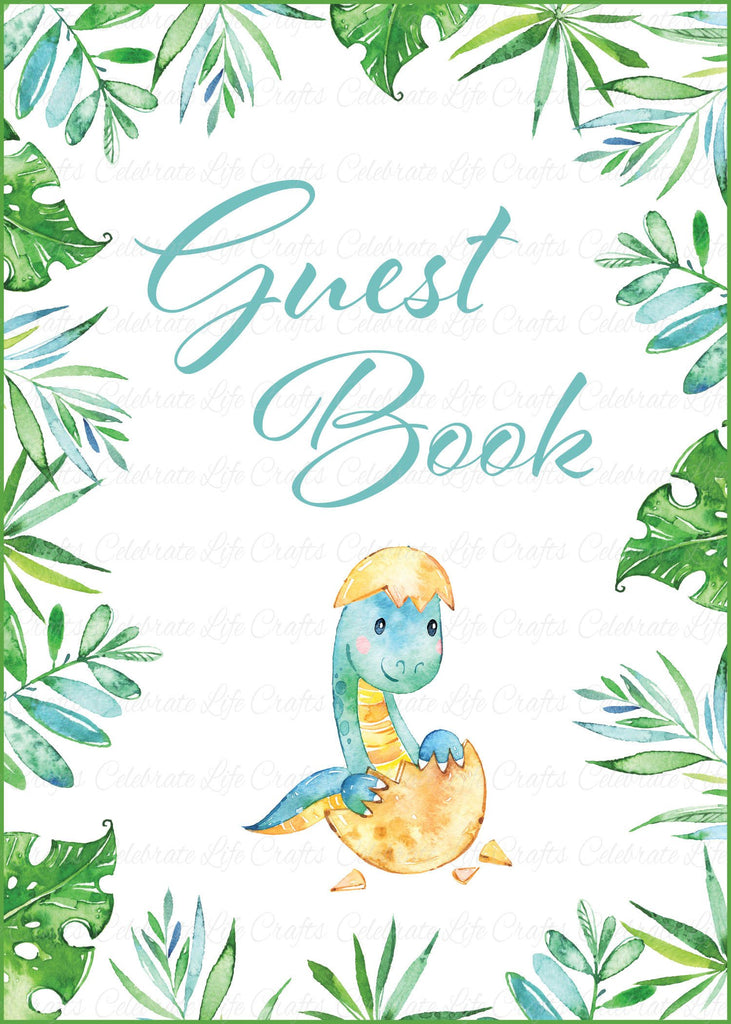 Dinosaur Baby Shower Guest Book Sign