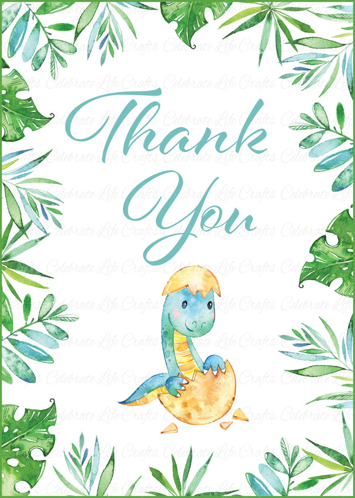 Dinosaur Baby Shower Thank You Sign