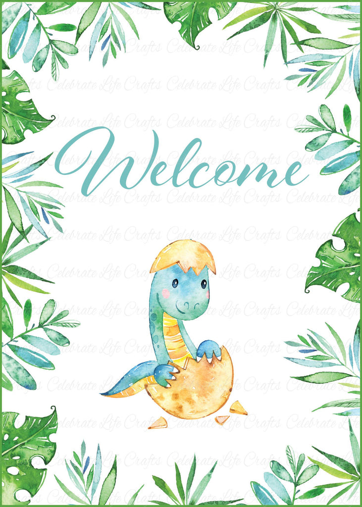 Dinosaur Baby Shower Welcome Sign