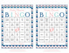 Baby Shower Bingo Cards - Printable Download - Prefilled - Baby Shower Game for Girl - Pink Navy Chevrons B4005