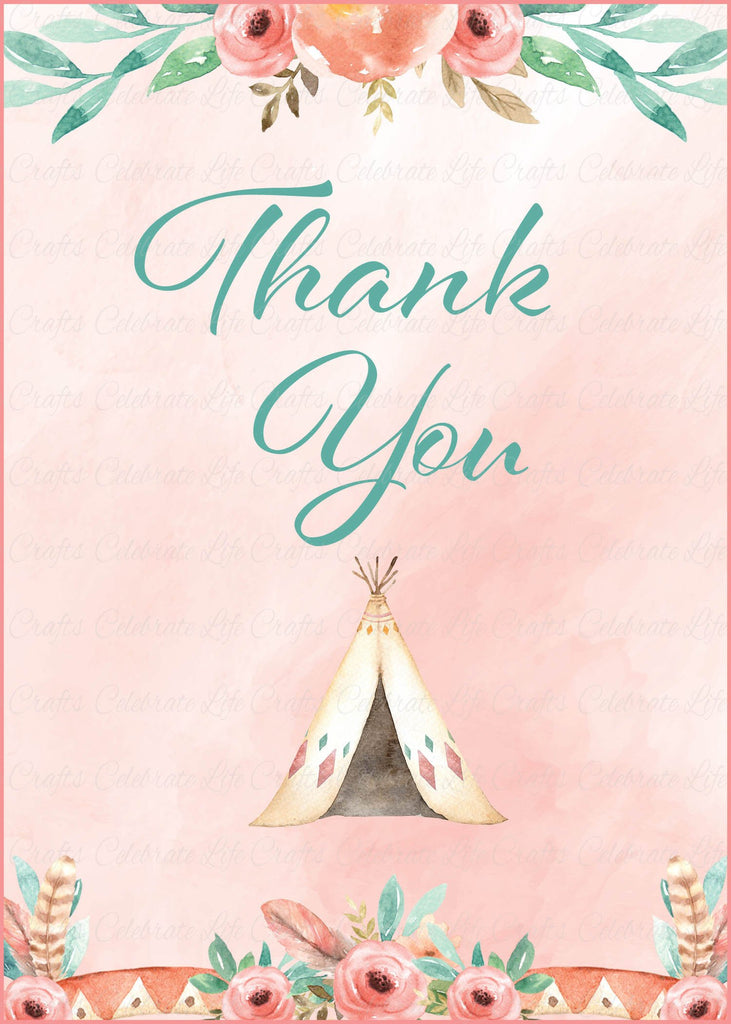 Boho Baby Shower Thank You Sign