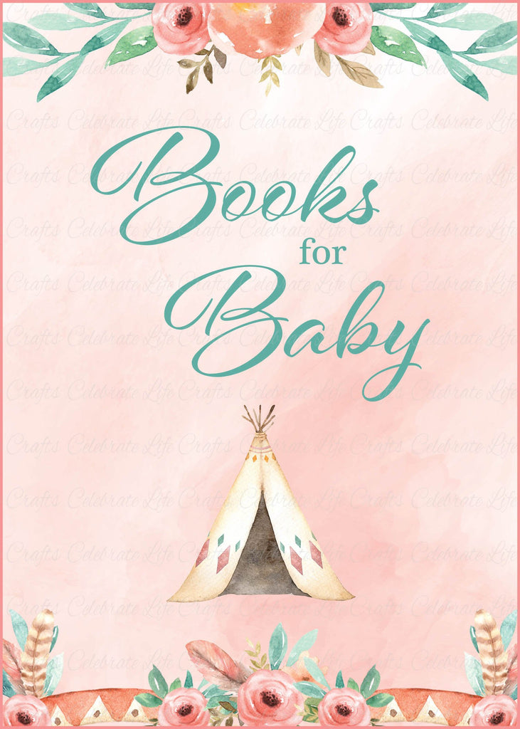 Boho Baby Shower Books for Baby Sign