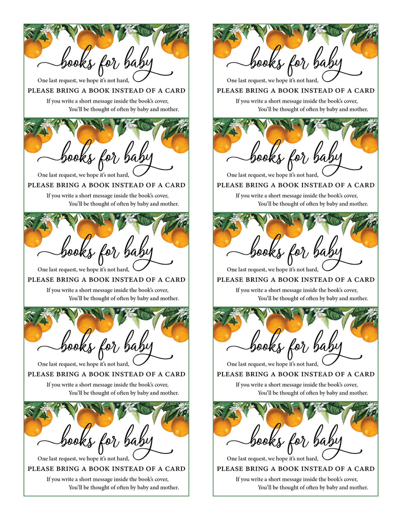Little Cutie Baby Shower Books for Baby Cards