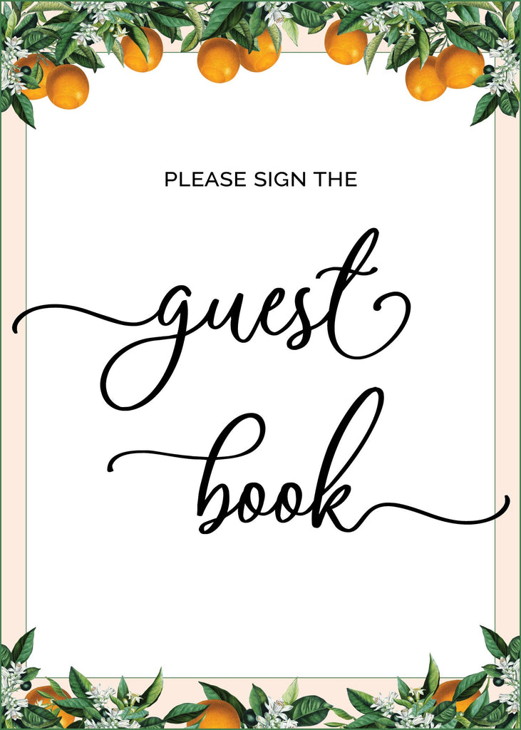 Little Cutie Baby Shower Guest Book Sign