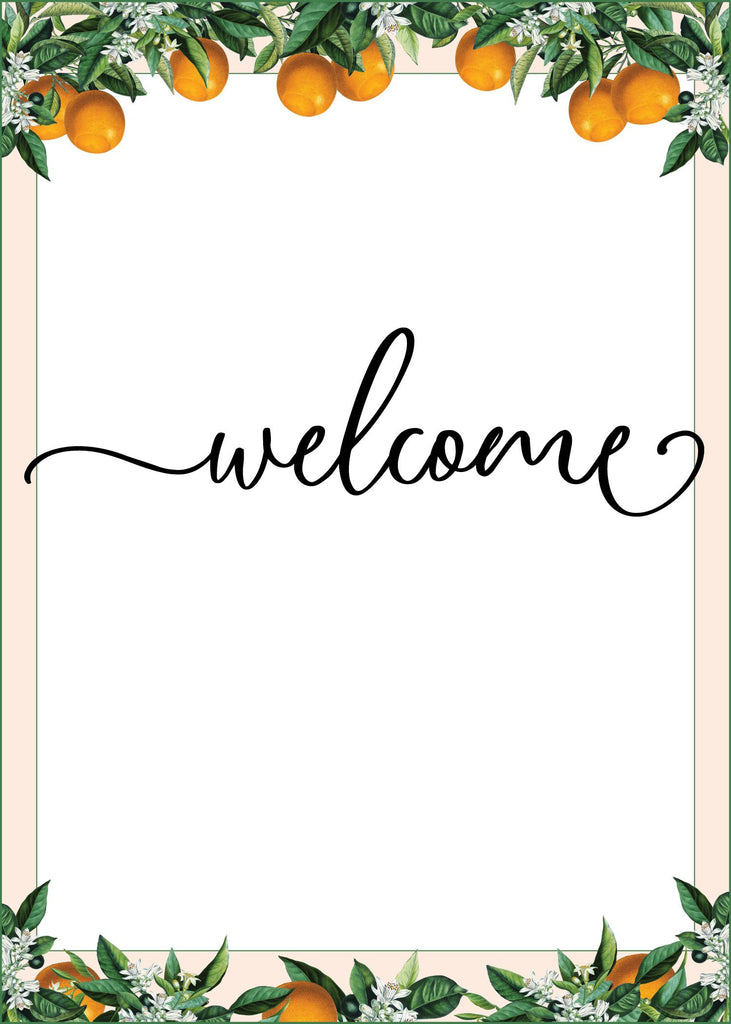 Little Cutie Baby Shower Welcome Sign