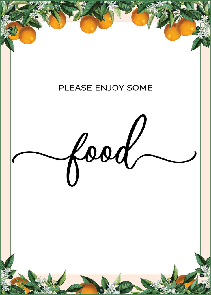 Little Cutie Baby Shower Food Sign
