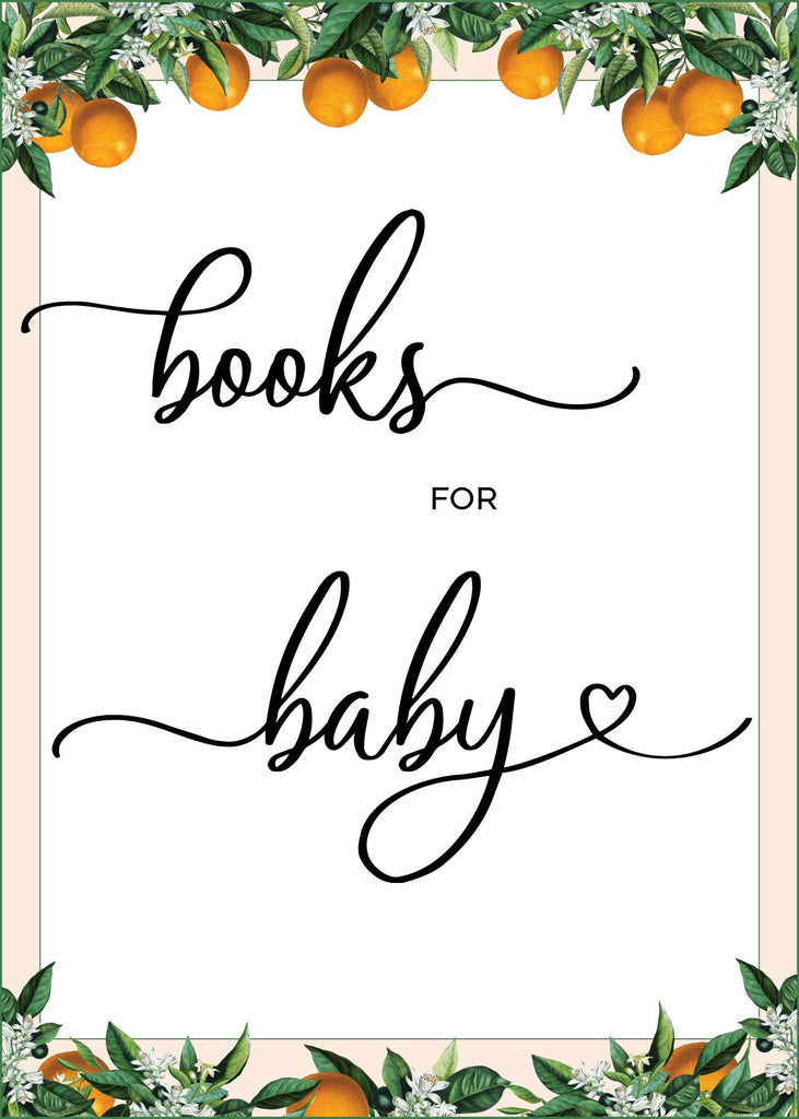 Little Cutie Baby Shower Books for Baby Sign