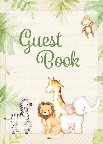 Safari Baby Shower Guest Book Sign