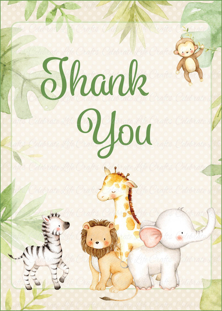 Safari Baby Shower Thank You Sign