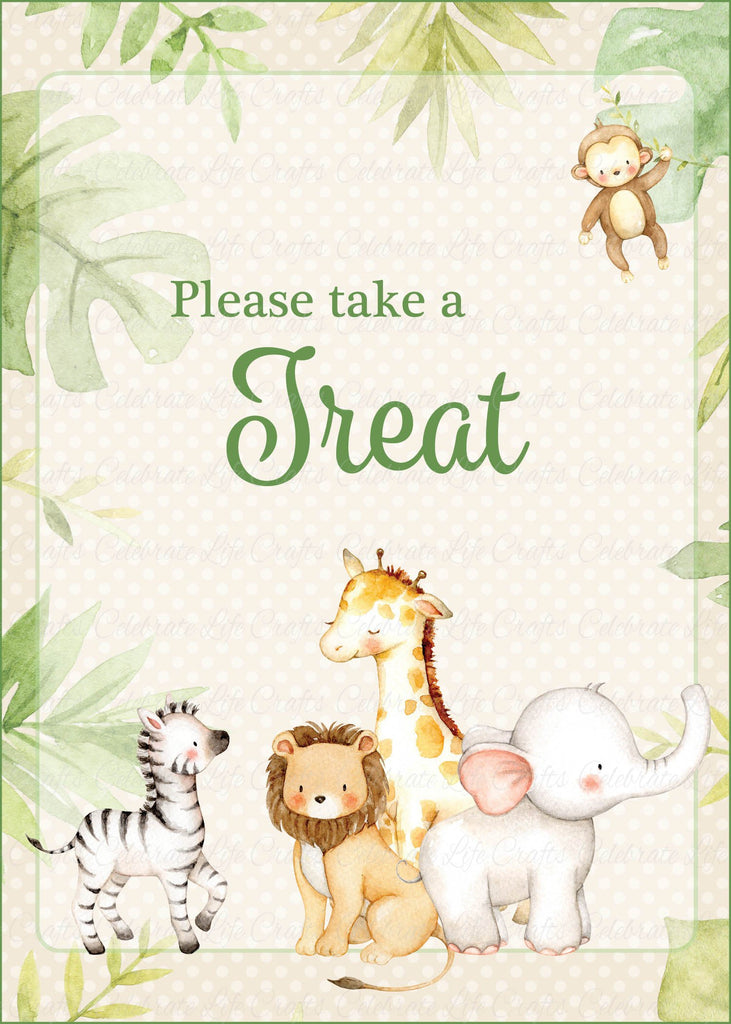 Safari Baby Shower Treats Sign