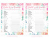 Bridal Shower Word Scramble - PRINTABLE DOWNLOAD - Wedding Shower Game - BR1004