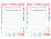 Wedding A-Z Game - PRINTABLE DOWNLOAD - Pink Floral Bridal Shower Game - BR1004