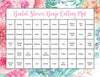Floral Bridal Bingo Cards - Printable Download - Prefilled - Bridal Shower Game for Wedding - Pink Rose Floral BR1004