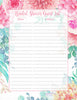 Bridal Shower Guest List Set - PRINTABLE DOWNLOAD - Pink Floral Wedding Shower Decorations - BR1004