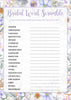 Bridal Shower Word Scramble - PRINTABLE DOWNLOAD - Wedding Shower Game - BR1005