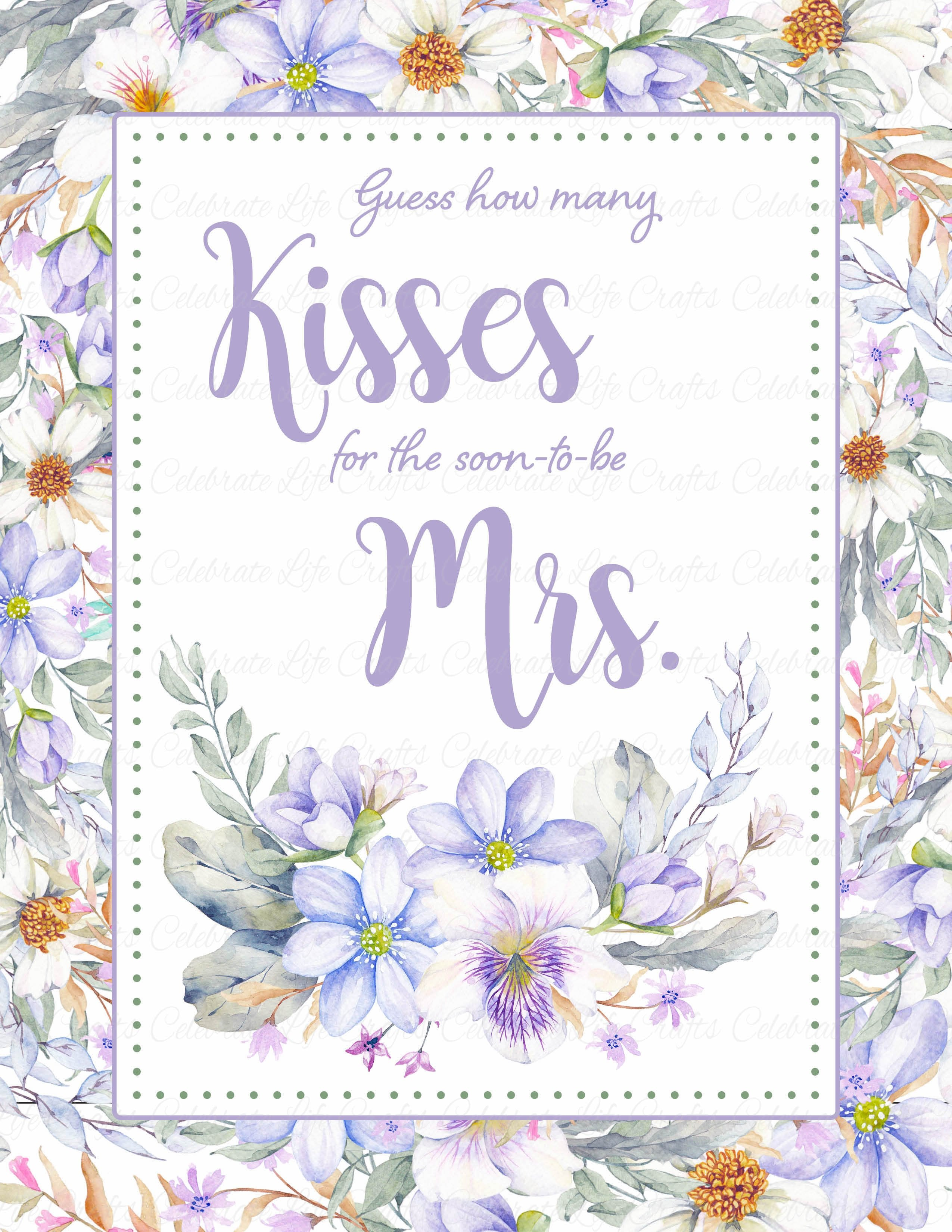 picture about Guess Who Cards Printable referred to as How Numerous Kisses Bridal Shower Activity Indication and Guessing