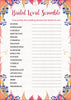 Bridal Shower Word Scramble - PRINTABLE DOWNLOAD - Falling in Love Wedding Shower Game - BR1006