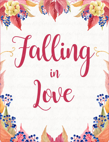 Falling in Love Sign - PRINTABLE DOWNLOAD - Falling in Love Bridal Shower Decorations - BR1006