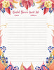 Bridal Shower Guest List Set - PRINTABLE DOWNLOAD - Falling in Love Wedding Shower Decorations - BR1006