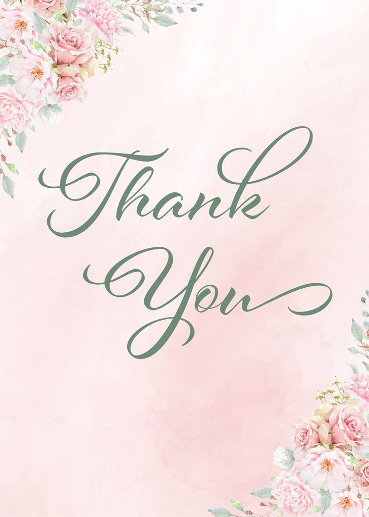 Pink Floral Bridal Shower Thank You Sign