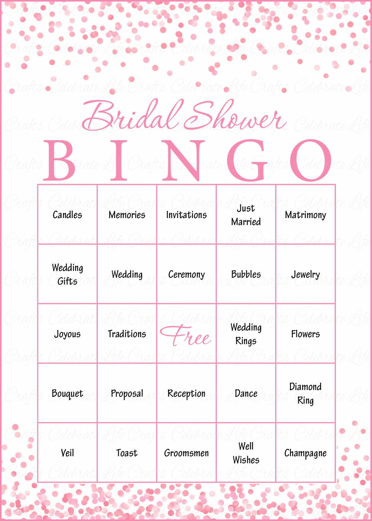 graphic about Bingo Chips Printable identify Bridal Bingo Playing cards - Printable Obtain - Prefilled - Bridal